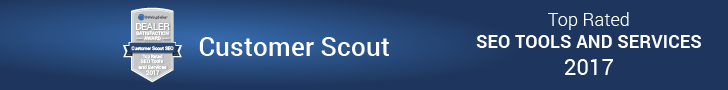 """Customer Scout SEO RECEIVES """"TOP RATED"""" DRIVINGSALES DEALER SATISFACTION AWARD"""